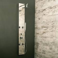 shower panel without tub spout tower rainfall system by akdy wall panels home depot canada
