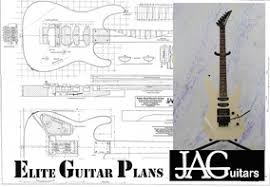rolled luthiers plan for jackson style super strat rp053