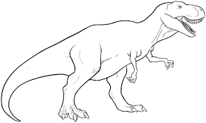 T Rex Coloring Pages To Print To Embroider Coloring Pages