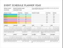 microsoft office schedule maker party guest list