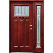 Pacific Entries 54 in. x 80 in. Diablo Craftsman 1 Lite Stained ...