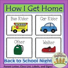 How We Get Home Chart How I Get Home Dismissal Chart And Forms For Back To School