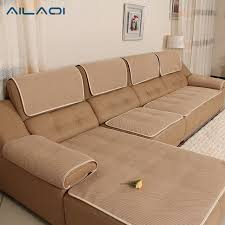 leather couch covers. Fine Covers AILAQI High Quality Leather Sofa Cover Summer Chair Seat Couch Plaid  Slipcover Dustproof And Covers