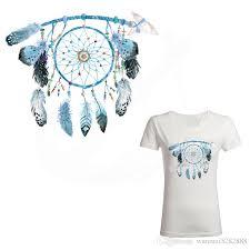 Dream Catcher Shirt Diy Gorgeous Beautiful Blue Dreamcatcher Iron On Patches 3232cm Diy Tshirt