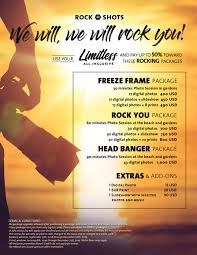 rock shots packages for