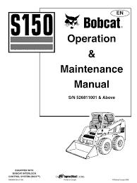 bobcat s150 operation manual 1774 loader equipment elevator