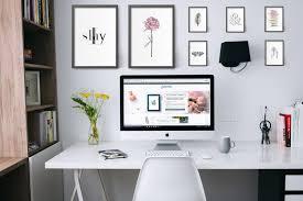 office wall desk. Office Wall Art - Multiple Frames Above The Desk Set Up I