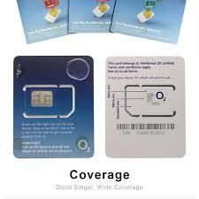 europa o2 sim card 2gb 8gb 20gb 4g data