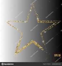 Goldene Weihnachtsstern Gold Konfetti Konzept Vektor