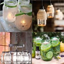 decorative mason jar lanterns lit by candles string lights etc to provide ambiance lighting
