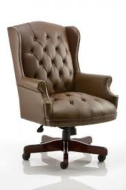 brown leather office chairs. Commodore Brown Leather Traditional Office Chair Chairs C