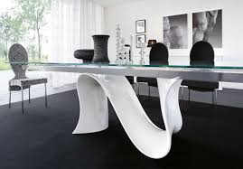 marvellous gl top dining table design ideas by long square gl table with n curving shape