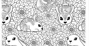 Konijnen Kleurplaat Printen Leuk Voor Kids Twee Lieve Konijntjes