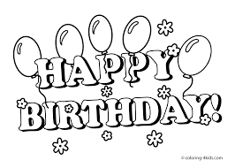 Small Picture Free Printable Happy Birthday Coloring Pages Printable 40 For Your