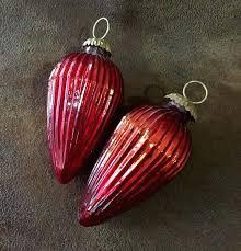 red mercury glass red mercury glass heart ornaments