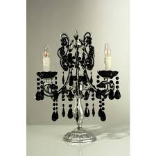 marie therese silver candelabra electric black crystals 3 arm