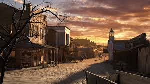 painting old west saloon town of the old west
