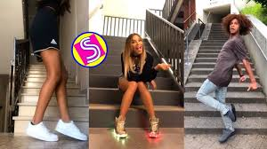 Musically Light Up Shoes New Stair Shuffle Dance Challenge Musically Compilation 2018 Stairchallenge