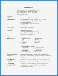 Architecture Internship Cover Letter Sample