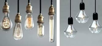 bare bulb pendant lighting lamp
