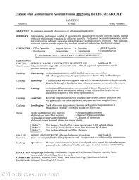 job objective career summary - Administrative Assistant Summary Resume