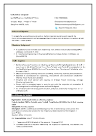Planning Engineer Resume-mech. Mohammed Maqsood C/o Md Mujahid,16/2/28, ...