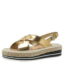 leather crisscross platform espadrille sandals size 39 5 nextprev prevnext