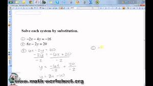 algebra systems of equations and inequalities solving by substitution hard you