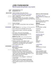Resume Jodi Parkinson