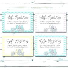 Registry Card Template Card Homey Idea Thank You For By Shower Gift