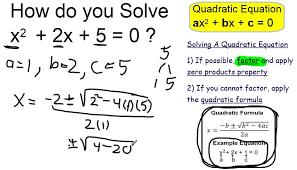 solve x 2 2x 5 0