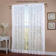 seslee sheer curtain panel white to expand