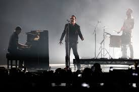 u2 s the edge bono and larry mullen jr perform during the mtv emas in glasgow uk on november 9th 2016 the group will embark on their innocence