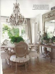 french style living room furniture. i love the soft colors and fabric of this dining room, chandelier, ruffled chair covers. french style living room furniture