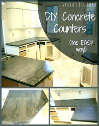 easy concrete countertops black concrete concrete dark cabinets with concrete concrete over laminate black concrete how