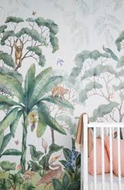 Jungle Behang En Wit Ledikant In Babykamer Shopinstijlnl