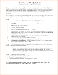 9 High School Scholarship Application Template Pear Tree Digital
