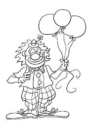 Coloriage Cirque Clown Ballonl