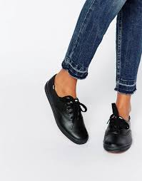 image 1 of keds classic leather plimsoll trainers
