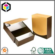 luxury gold color cardboard paper gift jewelry box china