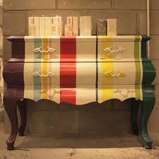 funky furniture ideas. paint stripes grandmau0027s furniture funky ideas i