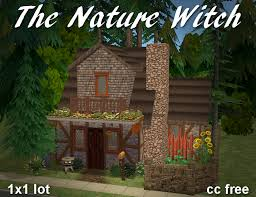 Heiroglyphic Muffin Land — The Nature Witch - 1x1 mini residential lot  for... | Nature witch, Witch cottage, Cottage in the woods