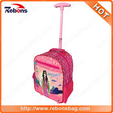fashion cute cartoon kids book backpack back to bags with trolley for s