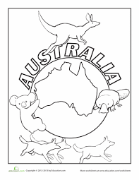 Australia Coloring Pages Australia Day Colouring Pages Free