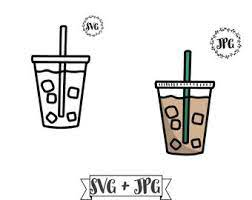 176 free images and vector silhouettes about coffee cup. Iced Coffee Svg Etsy
