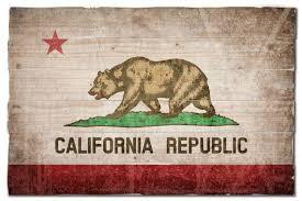 california state flag wall art on