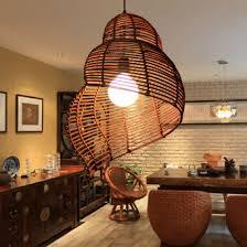 asian pendant lighting. Southeast Asian Vine Snail Droplight Rattan Escargots Pendant Lights Fixture Home Indoor Lighting Hotel Cafes Club