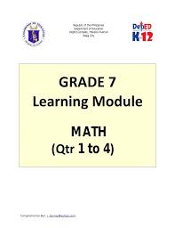 grade 7 learning module in math maths worksheets with answers pdf cbse class simple equations