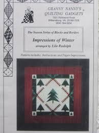 Impressions of Winter/Quilt Pattern by Granny Nanny's & Like this item? Adamdwight.com