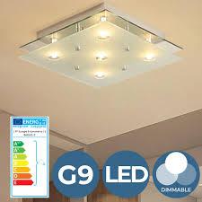 Led Deckenleuchte 5 Flammige Leuchte Für G9 Quadratisch Dimmbar A Ip20 Deckenlampe Badlampe Schlafzimmerleuchte Wandlampe Innenlampe